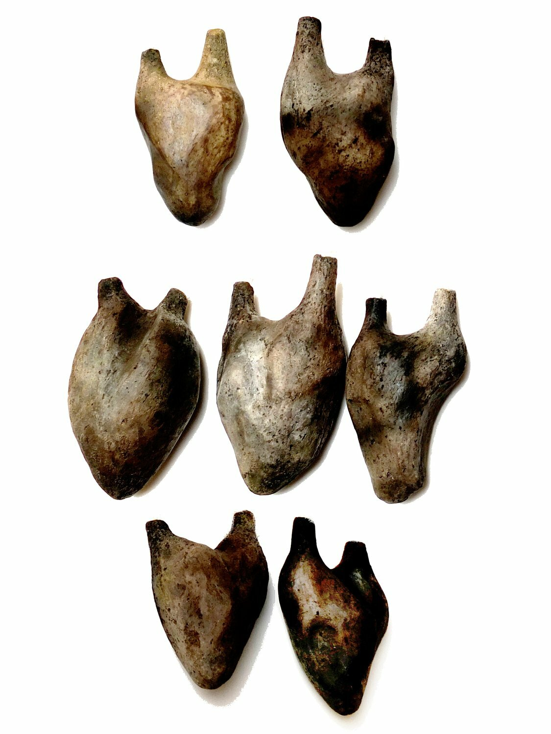 """Burned Heart"", Pendants, 2015, Ceramic"